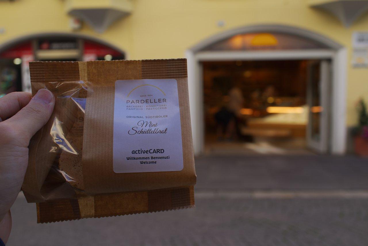 6日前にイタリア北部のヴィピテーノで手に入れたactiveCARDの特典のクッキー