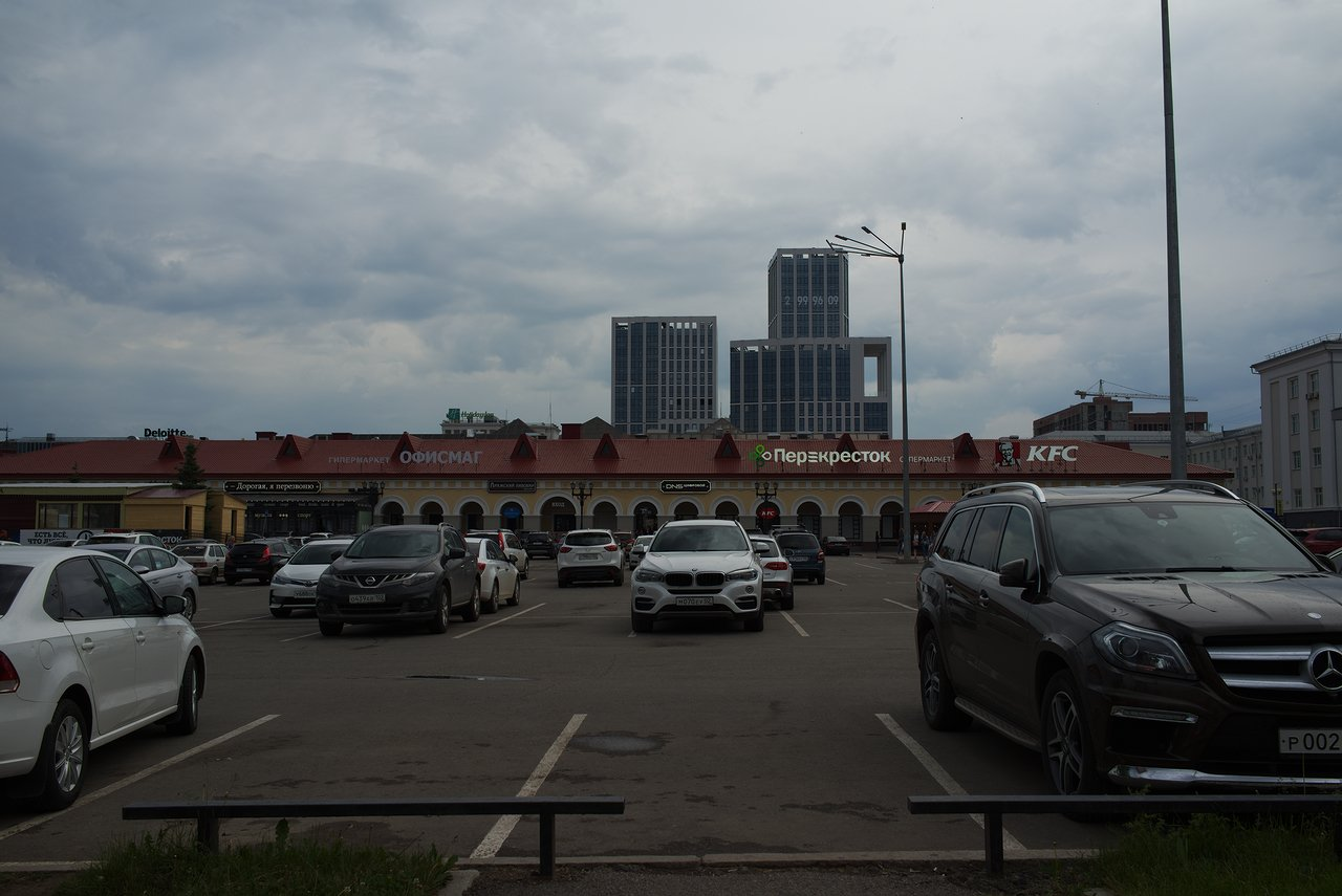 ウファの中心部にあるショッピングモール