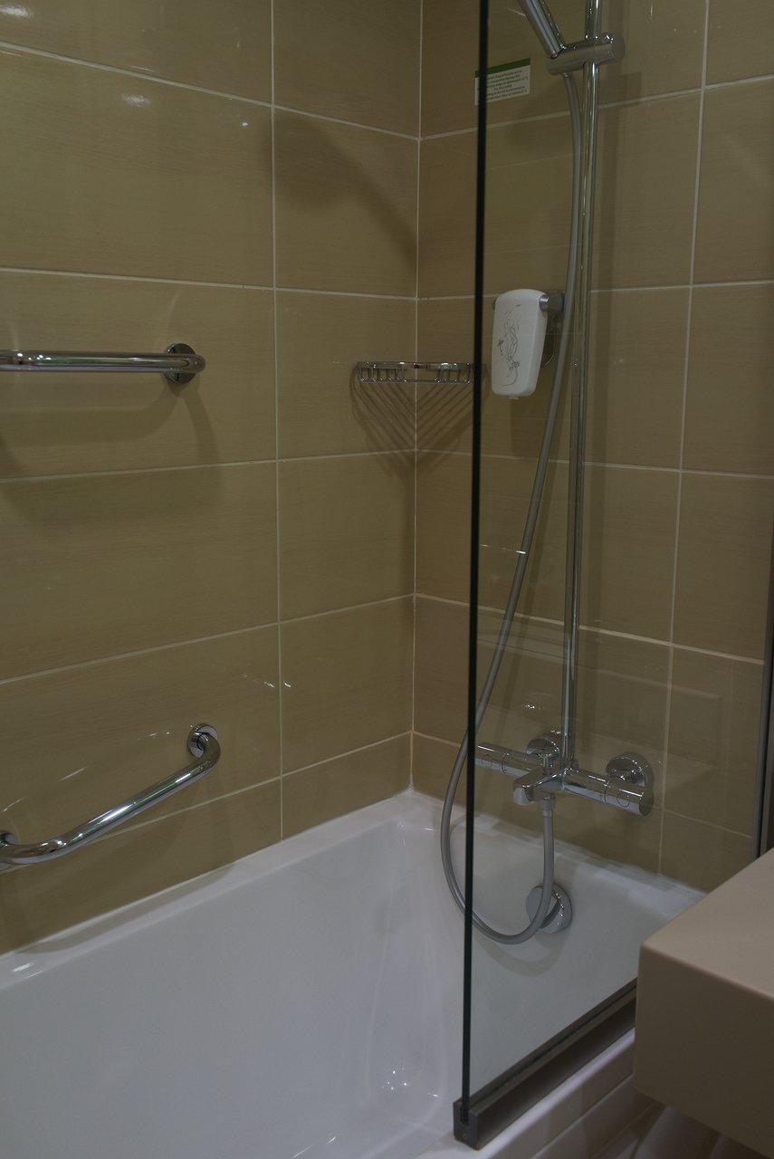 バスルームはバスタブ付きでした