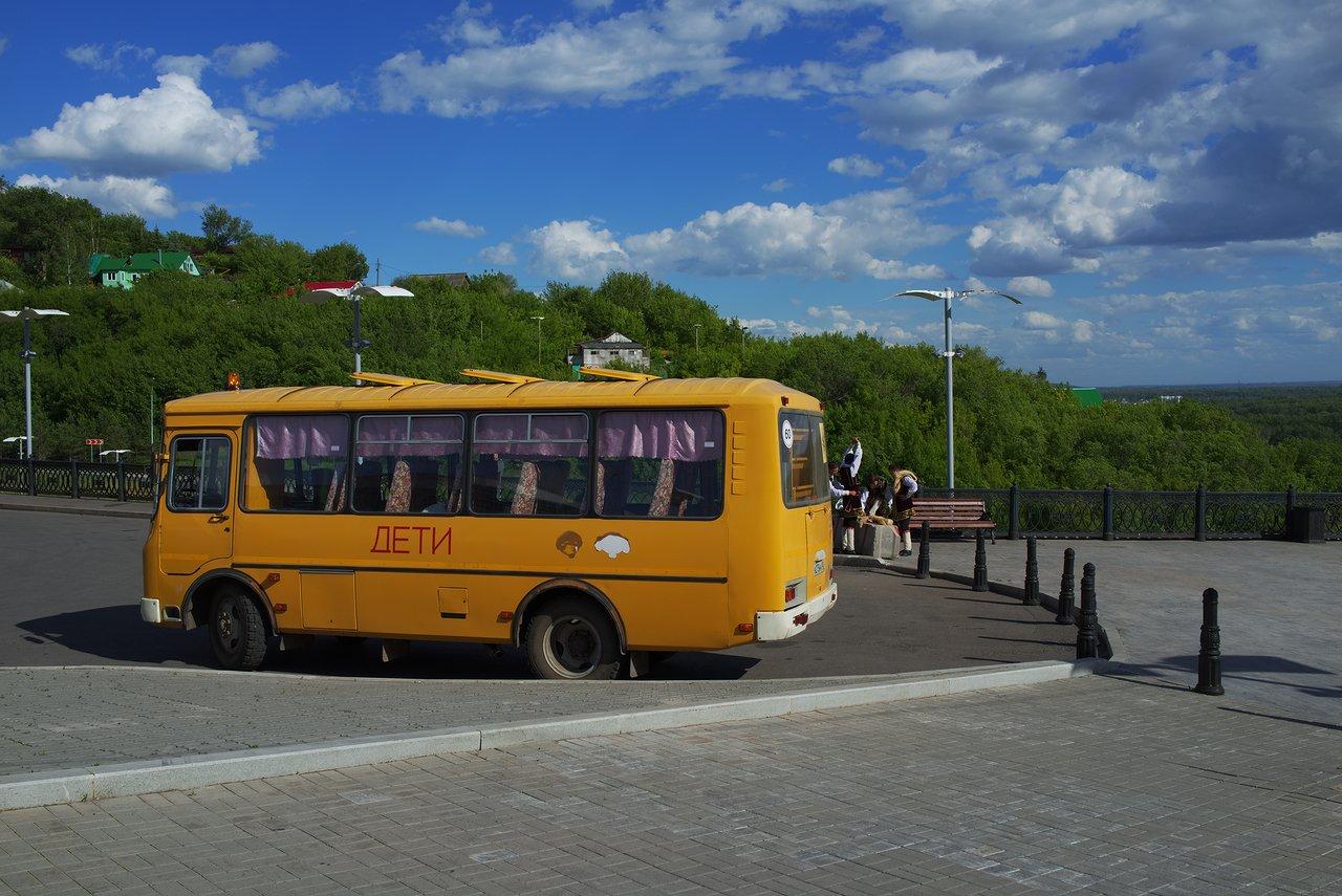 レトロなバスが可愛い