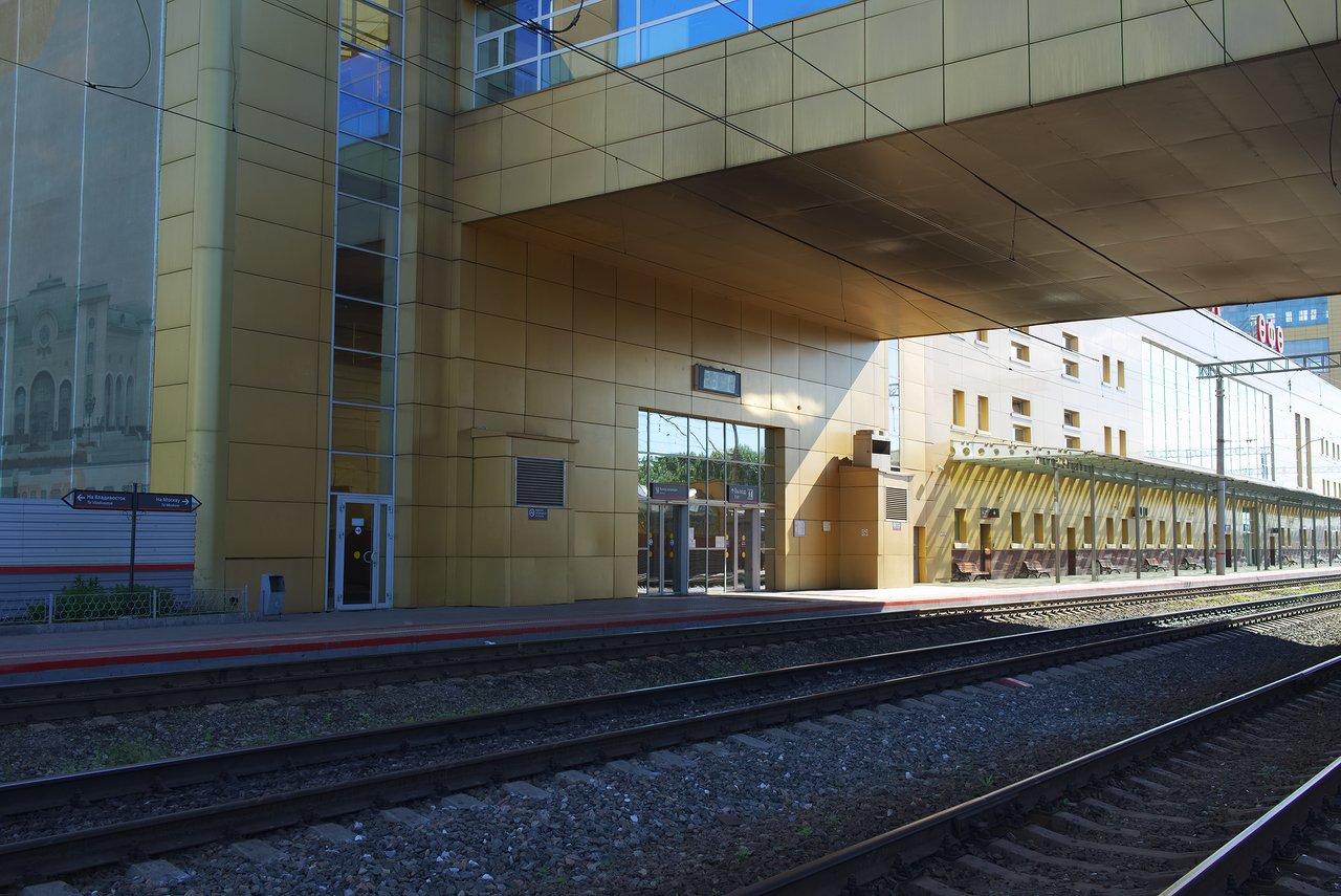 ウファ駅のホーム