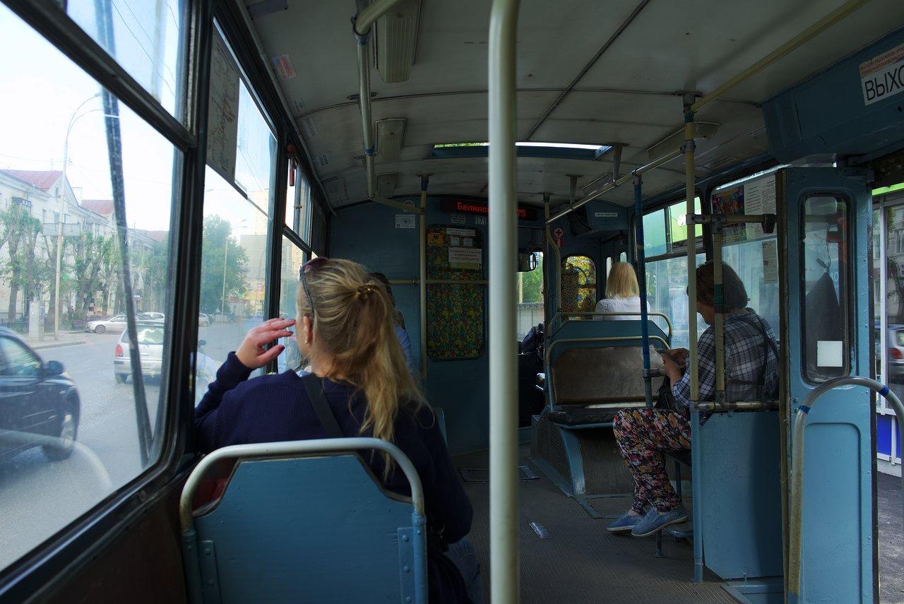 エカテリンブルクのトロリーバス