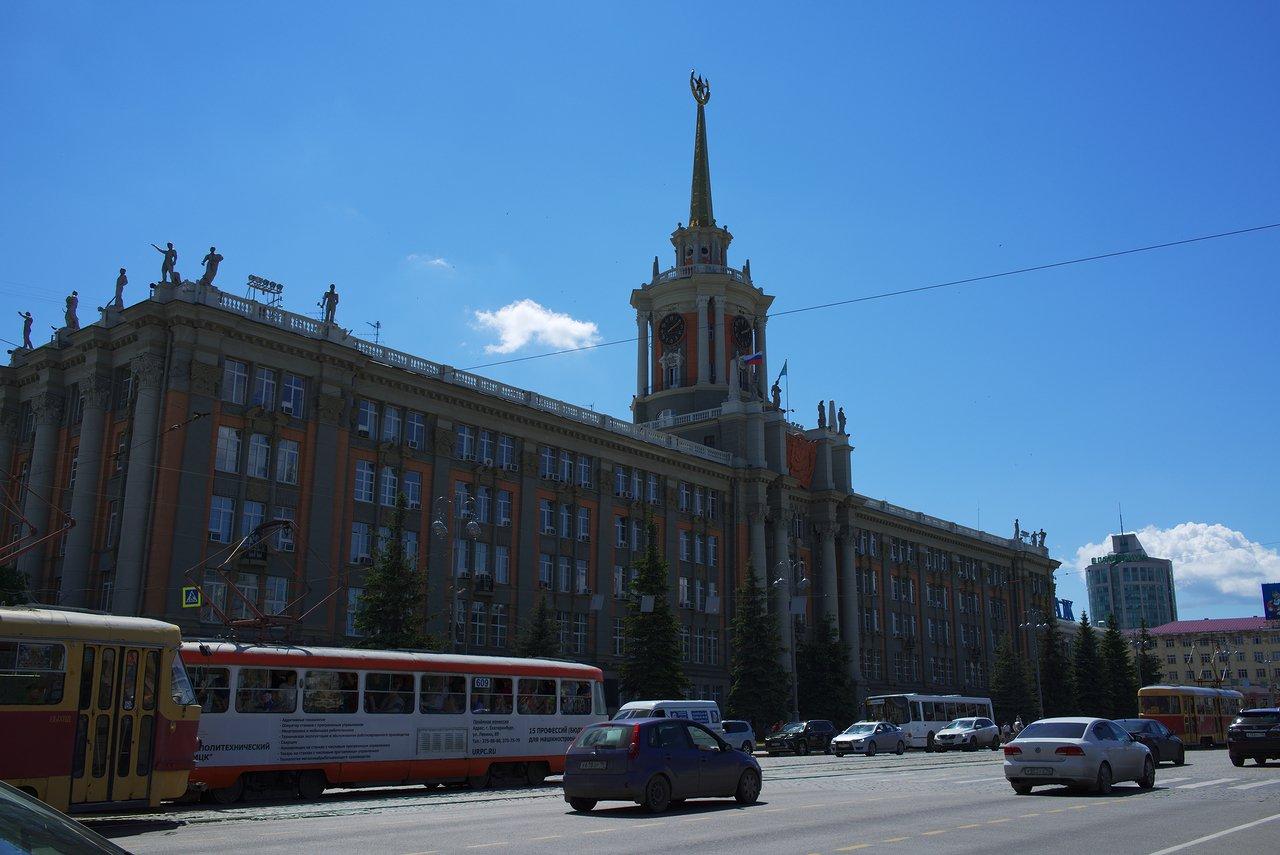 昔のソビエトを感じる建物