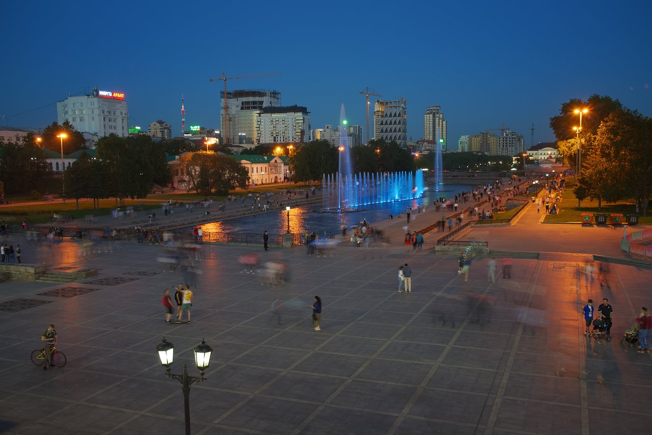 エカテリンブルクの夜景