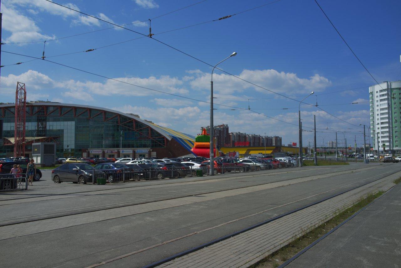 エカテリンブルクの地下鉄ボタニチェスカヤ駅周辺の街並み