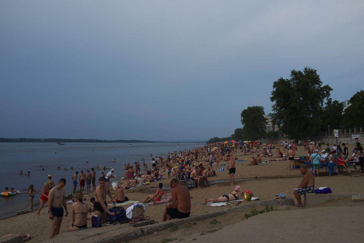ヴォルガ川のビーチ