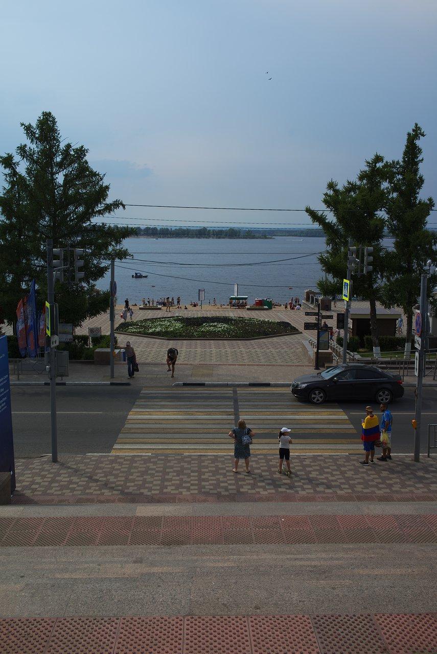 ヴォルガ川沿いの公園