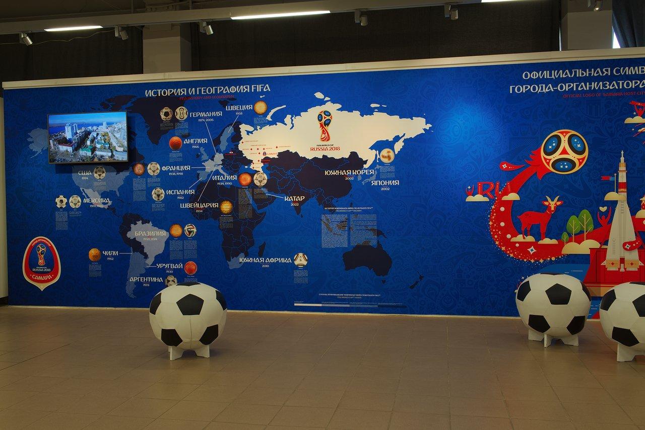2階はワールドカップの展示になっていました