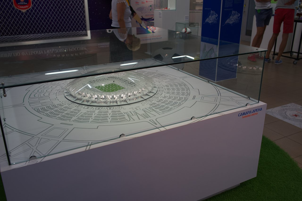 サマーラの試合会場のサマーラアリーナの模型