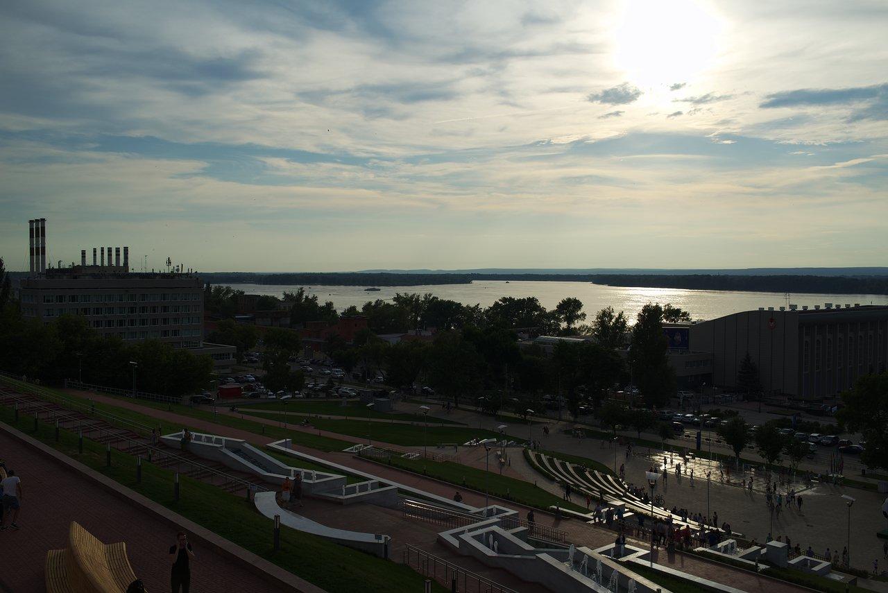ヴォルガ川の夕暮れ