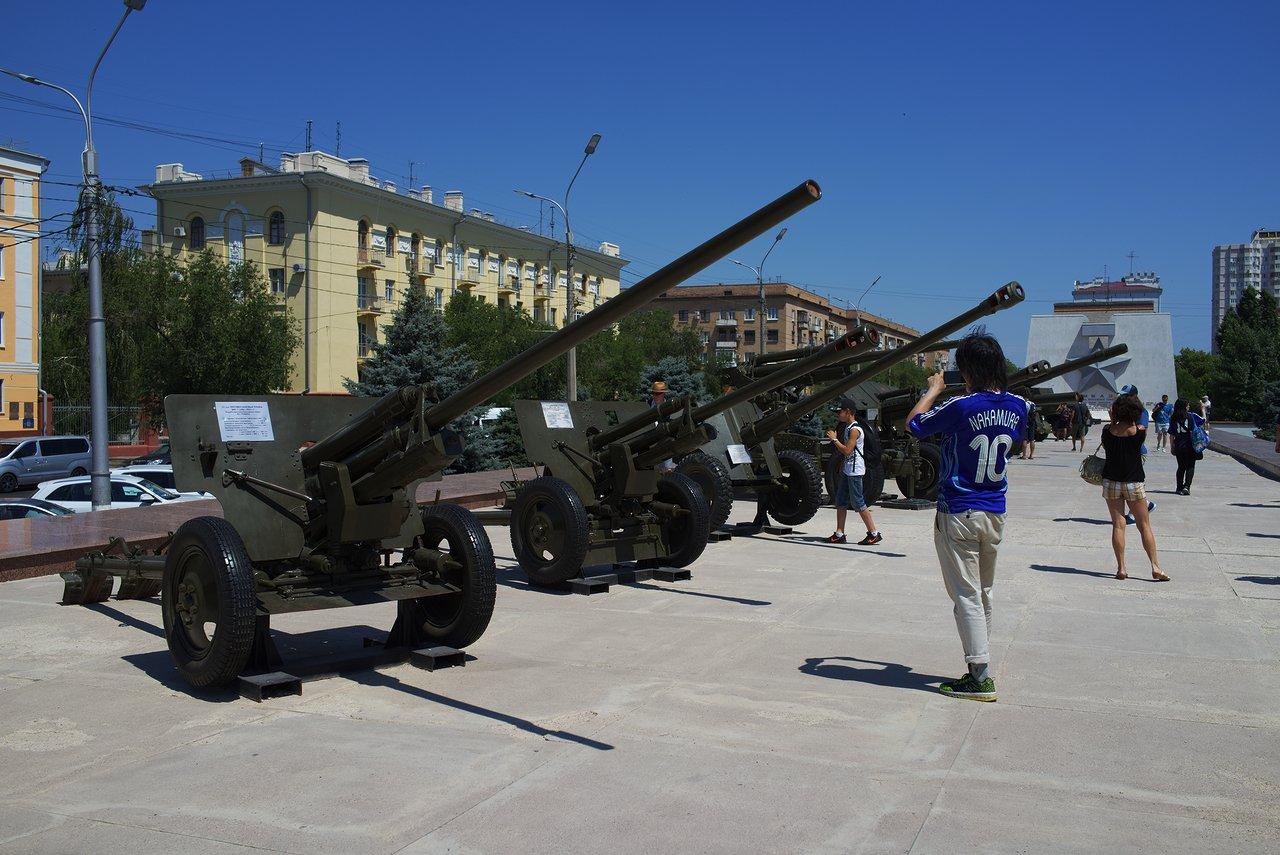 高射砲の展示