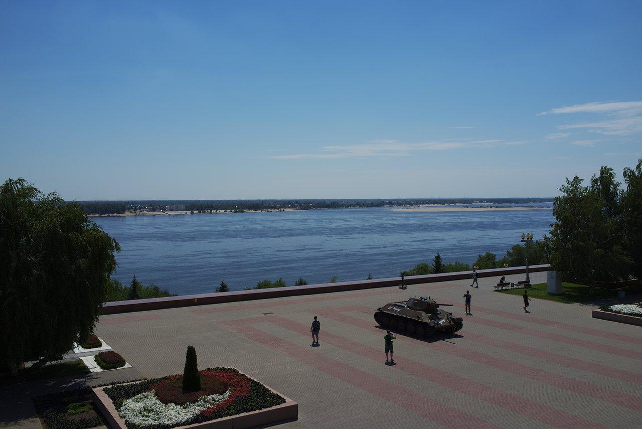 ヴォルガ川の景色