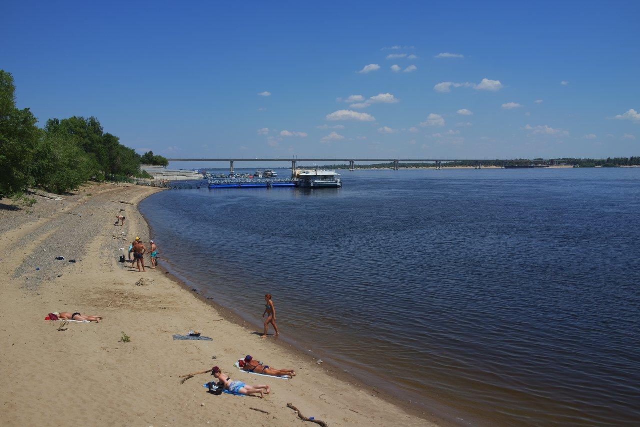 ヴォルガ川沿いのビーチ