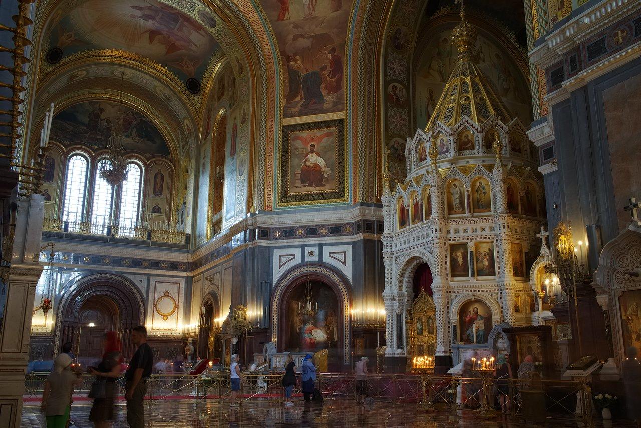 救世主ハリストス大聖堂の内部