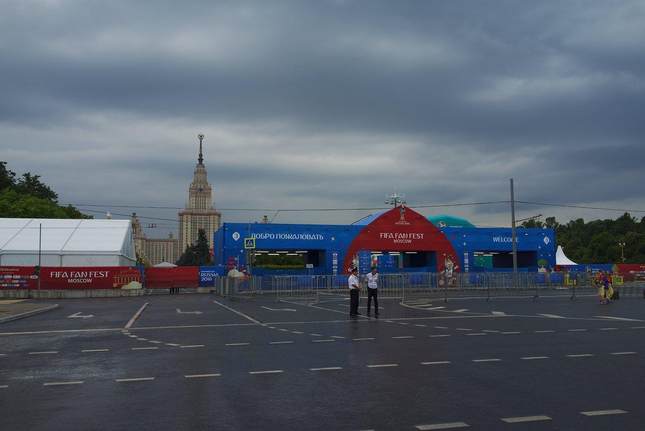 モスクワのファンフェスト会場はクローズしていました
