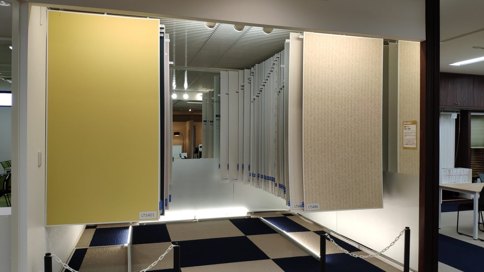 県民共済住宅宮原店の県民共済住宅標準クロスの展示コーナー